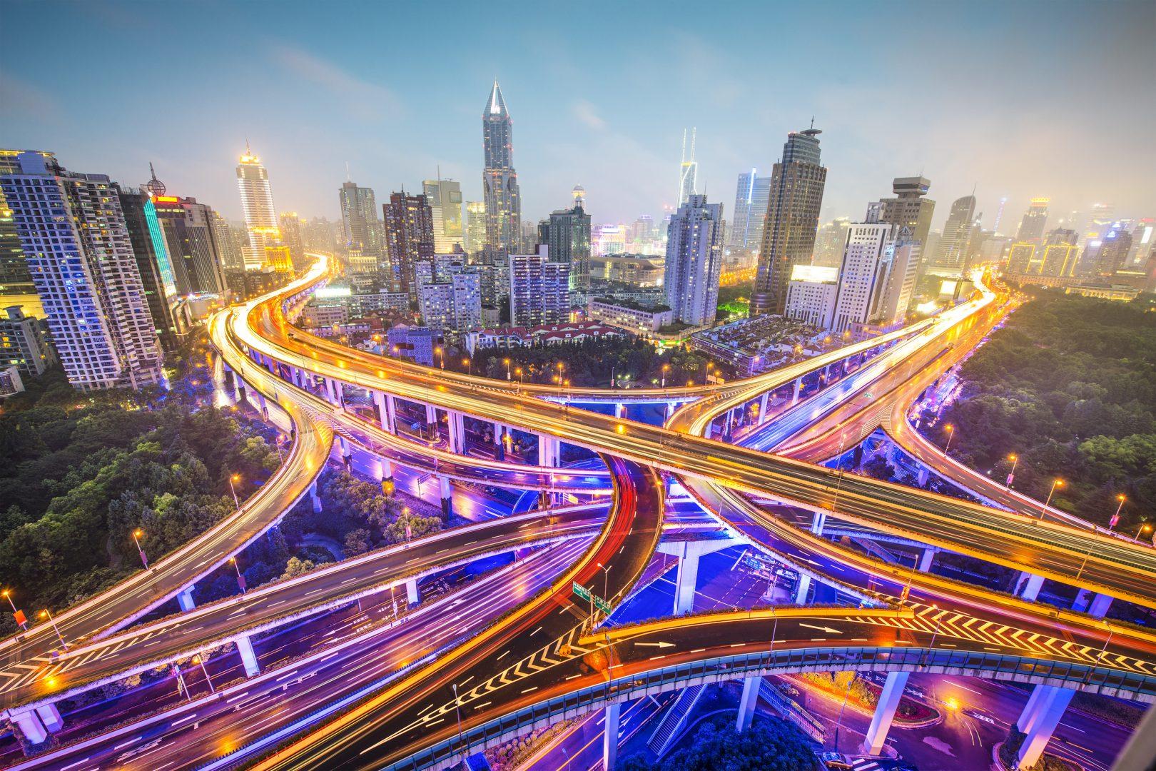 многоуровневая развязка в Китае